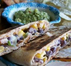 """Corn & Black Bean Quesadillas: """"These were spectacular! I served them up as an appetizer and they were gone in no time! -Mama_Jennie"""