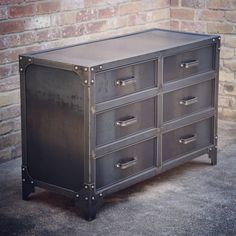 Заур Кулиев saved to Комод in to NC, all steel GrandView dresser. Easy Industrial Furniture plans To Complete Your Brick & Steel Vision Diy Furniture Flip, Loft Furniture, Steel Furniture, Furniture Design, Furniture Plans, Vintage Furniture, Furniture Assembly, Furniture Movers, Furniture Outlet