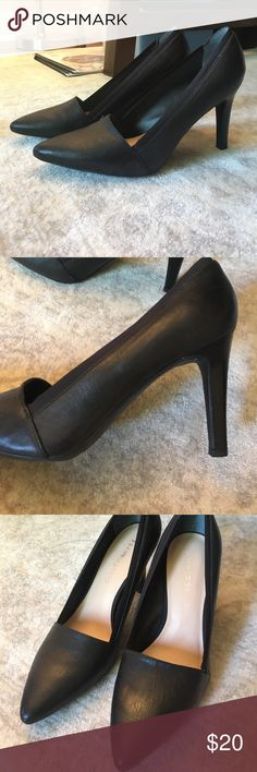Soft leather black heels Soft leather black heels. Worn once! Franco Sarto Shoes Heels