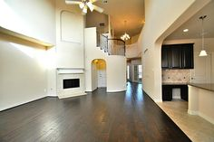 Stunning!  Let's go up those Dramatic Wrought Iron Stairway and see what is upstairs!  Notice the Juliet Balcony!
