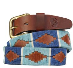 Back in stock - In two shades of blue with a white stripe on tan leather, the Lydia looks great on a pair of jeans.Why not upgrade you belt buckle? Browse our buckle range and add to your basket, we will attach this to your chosen belt before send. Stirrup Leathers, Girls Bags, Leather Craft, Shades Of Blue, Tan Leather, Belt Buckles, Blue Denim, Pairs, Argentina
