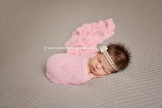 Pink Stretch Knit Wrap Newborn Photography | Beautiful Photo Props