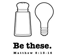 matthew sermon on the mount salt light of the world craft have children color the light bulb bright yellow then spread white glue on the salt shaker