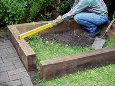 How to Build a Simple Raised Bed --> www.hgtvgardens.com/life-style/how-to-make-a-raised-bed?soc=pinterest
