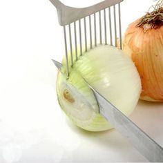 Légumes Fruits Trancheuse Coupe-Oignon Support Fourche tomate pomme de terre Trancheuse Holder