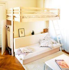 Lit mezzanine pour accueillir la famille ou les amis - Espace Loggia