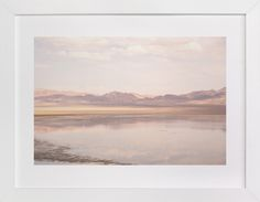 """desert lake"" - Art Print by jessi gilbert in beautiful frame options and a variety of sizes."