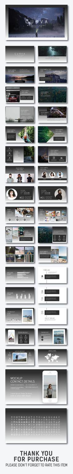 Curva Minimal Presentation - Creative PowerPoint Templates