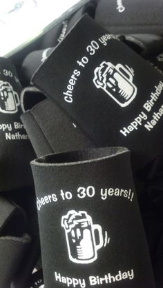 Cheers to 30 Years!  www.kustomkoozies.com Use discount code Pinterest for 15% off