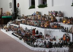 Another View Of Dickens Village Display Ideas For Nanas