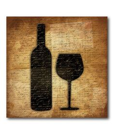 Take a look at this Red Wine Canvas Wall Art by COURTSIDE MARKET on #zulily today!