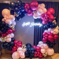 Birthday Party Planner, First Birthday Party Themes, Gold Birthday Party, Unicorn Birthday Parties, Happy Birthday, 21st Bday Ideas, Birthday Balloon Decorations, Birthday Party Decorations, Balloon Stands