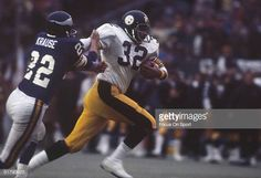 90ec077497c Running back Franco Harris of the Pittsburgh Steelers runs for yards during  Super Bowl IX against