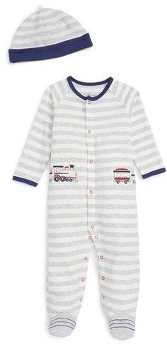Little Me 'Train' Footie & Hat Set (Baby Boys) Affiliate link