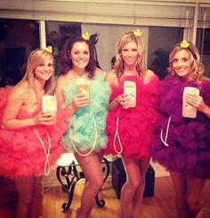 Pin for Later: 70 Mind-Blowing DIY Halloween Costumes For Women Bath Puff A bath puff costume is sure to be one of the most creative costumes of the night! And you can make it yourself with string and colorful tulle. Diy Halloween Costumes For Women, Last Minute Halloween Costumes, Creative Costumes, Diy Costumes, Halloween Diy, Happy Halloween, Costume Ideas, Halloween Fashion, Crazy Costumes
