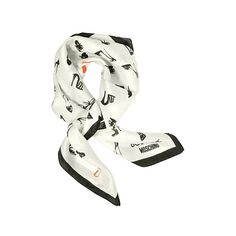 Moschino Square Scarves Shoes Printed Silk Square Scarf (5.685 RUB) ❤ liked on Polyvore featuring accessories, scarves, ivory, square scarves, silk scarves, moschino, silk shawl, ivory shawl and square silk scarves