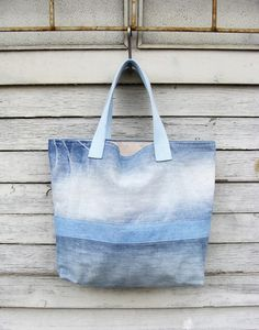 Denim Bag #3 - Nudakillers - Torby na ramię #woman, #bag, #tote, #shopper, #denim, #handmade, #recycling, #nudakillers, #denimlove, #summerbags, #denimbags