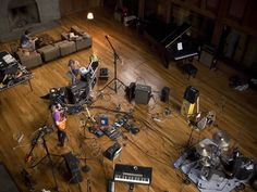 Grizzly Bear studio session