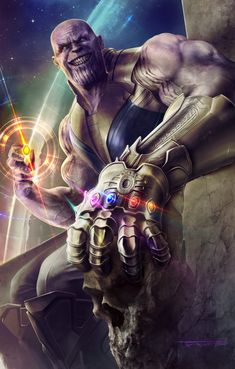 Avengers Infinity War Thanos with Full Infinity Gauntlet - DigitalEntertainmentReview.com