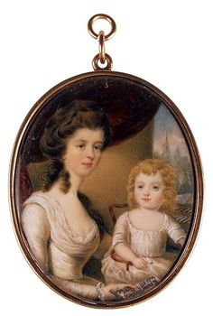 Mrs. William Russell and Child    by Samuel Rickards, F.S.A.    Circa 1770