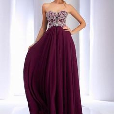 Strapless Red Prom Dress Na..