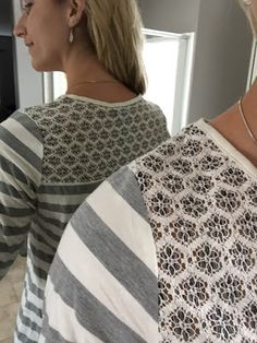 I love lace and v necks! This is the Market & Spruce Gillia lace detail knit top.
