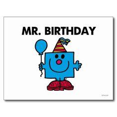 Mr. Birthday Classic Postcards