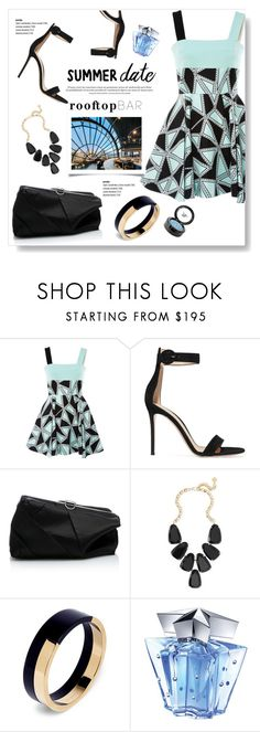 """""""Date Night"""" by viola279 ❤ liked on Polyvore featuring FAUSTO PUGLISI, Gianvito Rossi, Proenza Schouler, Kendra Scott, Marni, Thierry Mugler, Beauty Is Life, summerdatenight and rooftopbar"""