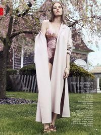 'Urban Swimwear Garden' Marique Schimmel by Chad Pitman for Vogue China July 2013 1