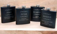 7 engraved Flasks Groomsmen flask Best man by MemoriesMadeToronto, $100.68