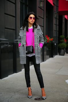 VIVALUXURY - FASHION BLOG BY ANNABELLE FLEUR: PLAID & PINK IN SAN FRANCISCO