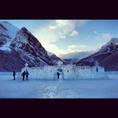This is one way to build a lake house! Lake Louise Ski Resort, Lake Louise Banff, Ski Vacation, Canada Eh, Business Centre, Mountain Resort, Alberta Canada, Holiday Destinations, Winter Wonderland