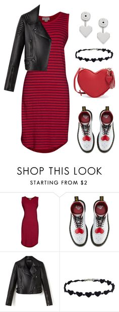 """""""Hearts"""" by naviaux ❤ liked on Polyvore featuring Velvet by Graham & Spencer, Dr. Martens and FOSSIL"""