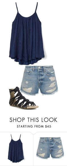 """Spring is Here!"" by pancake-queen222 ❤ liked on Polyvore featuring Gap, Frame and Mark & Maddux"