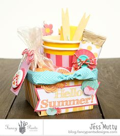 Hello Summer Gift Basket by Jess Mutty for @fancypantsdsgns