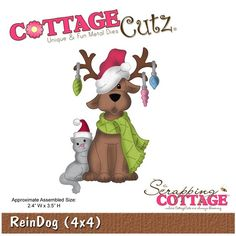 Cottage Cutz - Die - ReinDog,$19.95