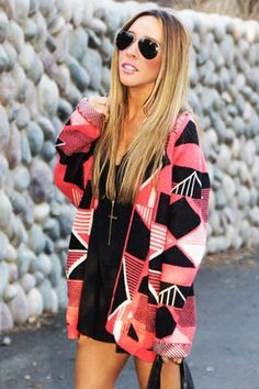 Tribal Print Sweater.