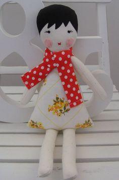 Sweet little doll by mooseandbird on Etsy