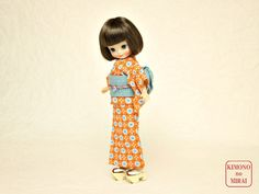Pale Blue YUKATA kimono,for Betsy doll,Japanese clothe KIMONOnoMIRAI #ClothingAccessories