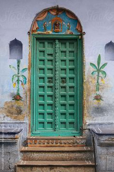 Traditional Indian door by Alexander Grabchilev #stocksy #realstock