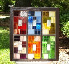 Repurposed Window Mosaic.