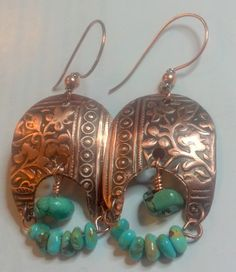 I made these with Melinda Orr's beautiful embossed copper.  Turquoise and copper always look great together. 7/52