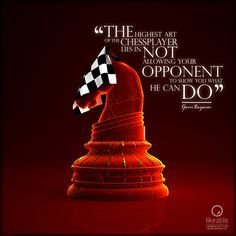 """""""The highest art of the chessplayer lies in not allowing your opponent to show you what he can do"""" Garri Kasparov #TheCheckeredKnight #PremiumChess #art Play chess online #illustration #3Dartwork #3Ddesign #chess #LikeableDesign #chesspieces #chessart ♕ ♔ ♖ ♗ ♘ ♙"""
