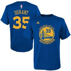 448025137f7 adidas Kevin Durant Golden State Warriors Name  amp  Number T-Shirt   warriors