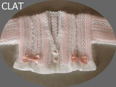knitted baby set sweater and bonnet by Lanaterapia on Etsy, €135.00