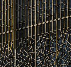 Bronze Sunshades  regular pattern to fractal triangulated http://www.architecturalmaterials.com/bronze-sunshades