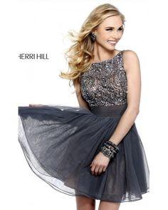Metal Sherri Hill 11032 Short Prom Dress