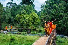 #Moines sur le Plateau des #Bolovens au #Laos