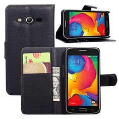 """Luxury Wallet PU Leather Case For Samsung Galaxy Core LTE 4G G386F 4.52"""" Magnetic Filp Cover Fundas Holder Stand Cell Phone Bag"""