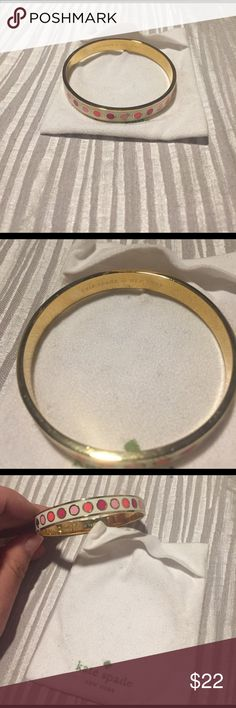 Kate spade bangle Beautiful pink and gold Kate spade bangle. Worn once! Great condition kate spade Jewelry Bracelets
